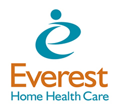 Everest Home Health Care logo stacked